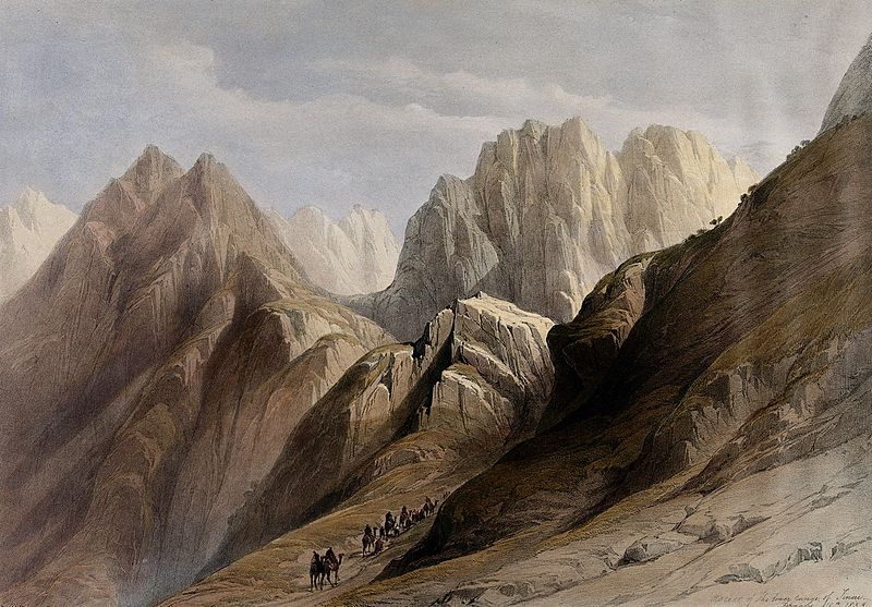 File:Ascent of the lower ranges of Mount Sinai. Coloured lithogra Wellcome V0049447.jpg