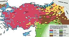 Les Arméniens sont concentrés au Nord-Est, avec les Kurdes au Sud-Est.