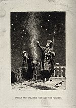 Astrology; Vathek, and his mother Carathis, consult the plan Wellcome V0024849.jpg