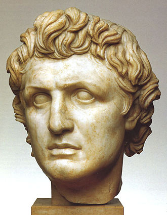 Pergamon Altar - Larger-than-life sculptured head presumably of Attalus I, from early in the reign of Eumenes II.