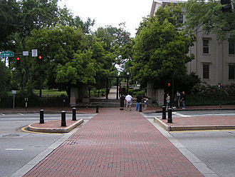 Athens, Georgia - Broad Street in Downtown Athens near North Campus of the University of Georgia