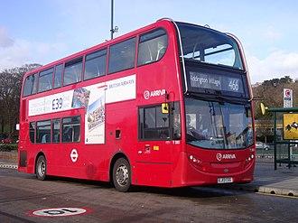 Arriva London - Alexander Dennis Enviro400 on route 466 in February 2013