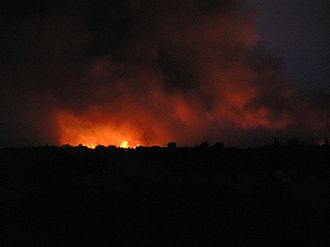 2007 European heat wave - A forest fire in Croatia
