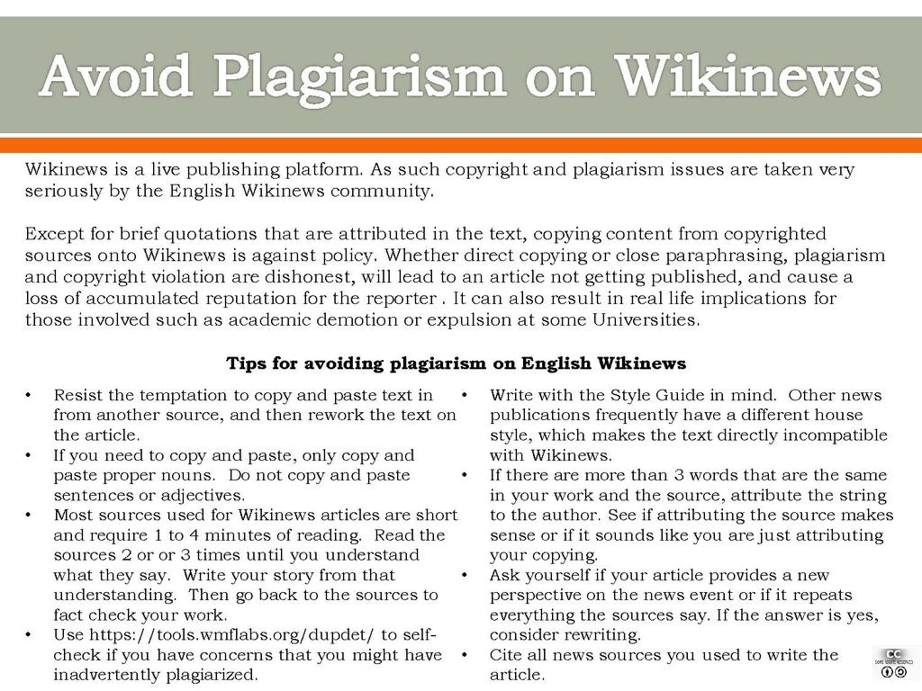How to avoid plagiarism in your