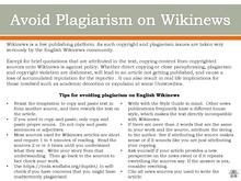 Avoid Plagiarism on Wikinews.pdf