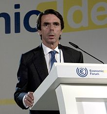 Aznar in Economic Ideas Forum, Madrid, Spain.jpg