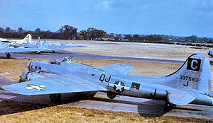 RAF Snetterton Heath - Boeing B-17G-70-BO Fortress Serial 43-37683 of the 339th Bomb Squadron.
