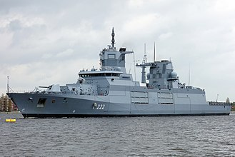 "Frigate - The ""Baden-Württemberg"", an F125-class frigate of the German Navy"