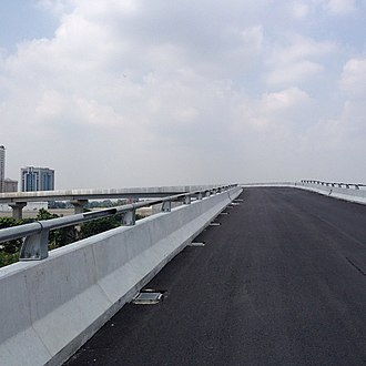 BRT Sunway Line - Image: BRT Sunway Line elevated guideway
