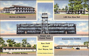 Fort Wayne Air National Guard Station - World War II postcard