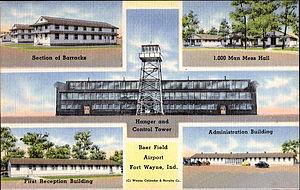 Fort Wayne Air National Guard Station - World War II postcard