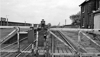 Balne railway station - The station after closure to passengers in 1961