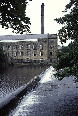 Bamford - The mill, and chimney, in 1992