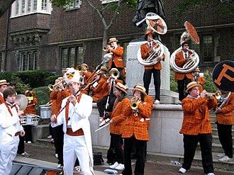 Princeton University Band - Playing at University of Pennsylvania's campus.