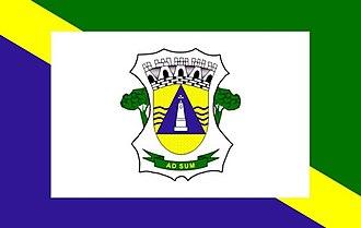 Cáceres, Mato Grosso - Image: Bandeira caceres