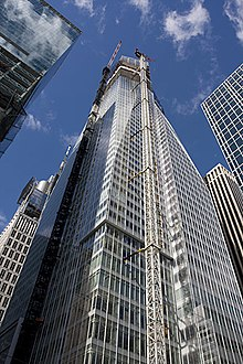 The Bank of America Tower under construction in October 2007.