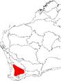 Banksia sphaerocarpa var. caesia map.png