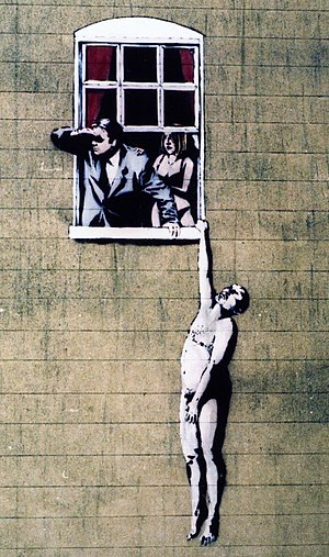 Park Street, Bristol - Image: Banksy ps