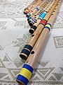 Bansuri set of different scales in descending order of length.jpg