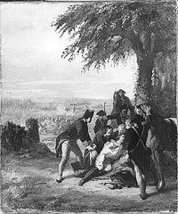 Anno 1793. Prins Frederik wordt in de slag bij Wervik gewond