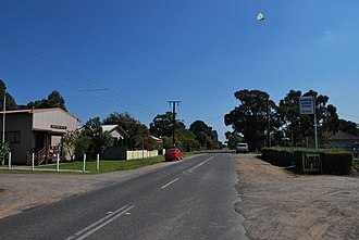 Barwon Downs - The main street of Barwon Downs with the public hall on the left and the general store on the right (now closed)