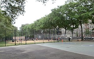 Jackie Robinson Park - Image: Baseball and basketball area in Jackie Robinson Park