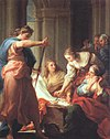 Batoni, Pompeo ~ Achilles at the Court of Lycomedes, 1745, oil on canvas, Galleria degli Uffizi, Florence.jpg