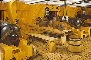 Son of a gun - A 19th century gun deck (HMS ''Victory'').