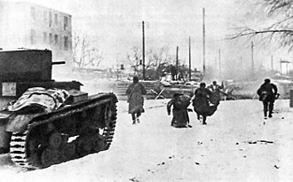 Battle of Rostov (1941) - Soviet troops fighting in Rostov
