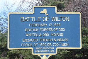Battle of Wilton (New York) - Marker at the corner of Gailor and Parkhurst roads in Wilton commemorating the battle