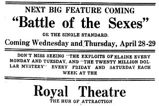 <i>The Battle of the Sexes</i> (1914 film) 1914 film
