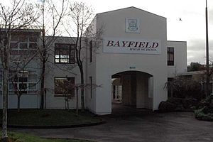 Bayfield High School, Dunedin - Archway at main entrance