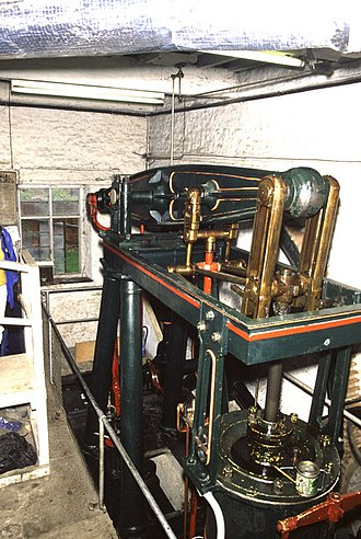 Combe Mill - Beam engine at Combe Mill