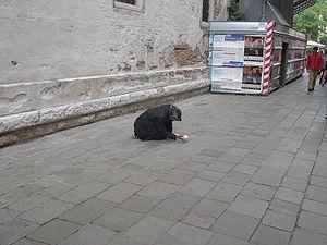 Beggar in Venis, May 2008