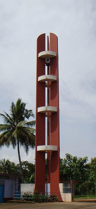 Muthalakodam - Bell tower at the Muthalakodam Church