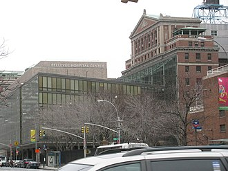 Bellevue Hospital - The exterior of the hospital