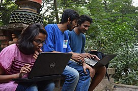 Bengali Wikipedians at Wikipedia 15 good article edit-a-thon and adda, Chittagong 2 (16).jpg
