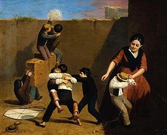 Franklin Rawson - La cometa (the kite) (1868)