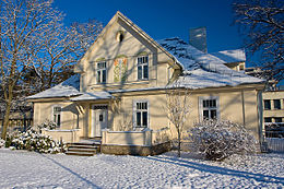 La maison des Benjamins; une des plus impressionnantes constructions de Jurmala. Bâti en 1939.