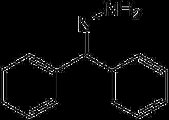 Hydrazone - Image: Benzophenone hydrazone structure