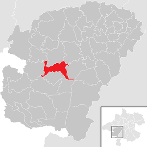 Berg im Attergau - Image: Berg im Attergau im Bezirk VB