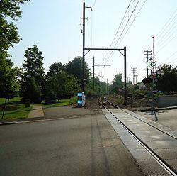 Berkeley Heights NJ train tracks eastbound to New York