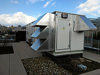 Berner Tricoil Energy Recovery System atop the Center for Sustainable Landscape.jpg