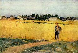 Berthe morisot grain field c 1875 mus 233 e d orsay
