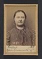Bertout. Marie, Ismérie. 41 ans, née à Reims. Marchande de vins. Pas de motif. 26-2-94. MET DP290161.jpg
