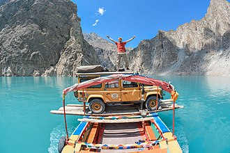 Attabad Lake - Since the lake was formed the only means of crossing was by loading vehicles onto wooden boats. This changed when a road tunnel was built and it opened for traffic in September 2015.