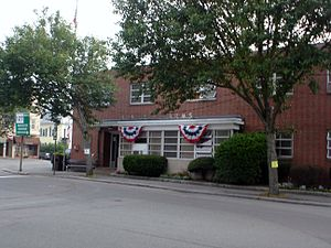 Beverly Farms - Beverly Farms Fire Station on the 4th of July in 2006.