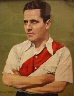Bernabé Ferreyra - Ferreyra in 1936 while playing for River Plate.