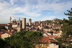 Bergamo's well-recognizable cityscape