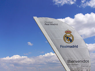 """La Fábrica - Above, the entrance to Ciudad Real Madrid (""""Real Madrid City""""), where La Fábrica youth players as well as Real Madrid's professional squad train daily"""